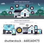 two horizontal and colored... | Shutterstock .eps vector #668160475
