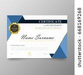 certificate premium template... | Shutterstock .eps vector #668169268