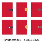 collection of stylish leather...   Shutterstock .eps vector #668188528