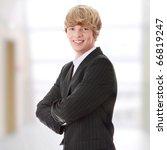portrait of happy businessman | Shutterstock . vector #66819247