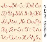 handwritten alphabet | Shutterstock .eps vector #66819592