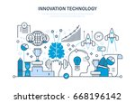 innovation technology. creative ... | Shutterstock .eps vector #668196142