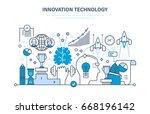 innovation technology. creative ...   Shutterstock .eps vector #668196142