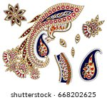 Set Of Colorful Paisley...