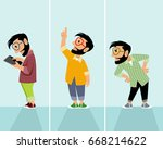 vector illustration of men... | Shutterstock .eps vector #668214622