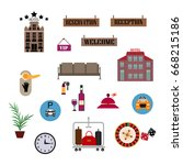 flat vector design elements of...   Shutterstock .eps vector #668215186