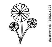 flower icon image  | Shutterstock .eps vector #668216128