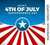 independence day design.... | Shutterstock .eps vector #668216905