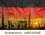 industrial concept with germany ... | Shutterstock . vector #668216968