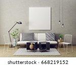 modern living room interior... | Shutterstock . vector #668219152