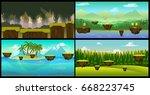 vector landscape cartoon...