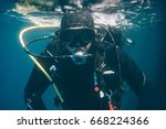 Scuba Diver Underwater. Scuba...