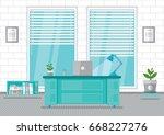 vector office interior office