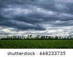 Dark Rainclouds Over A Field...
