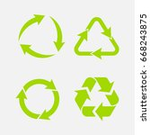 recycling symbol of... | Shutterstock .eps vector #668243875