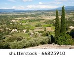 Landscape in the Provence, Southern France - stock photo