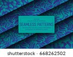 collection of 5 different... | Shutterstock .eps vector #668262502