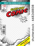 comic book cover. giant size... | Shutterstock .eps vector #668268838