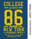 college academy graphic design... | Shutterstock .eps vector #668270086