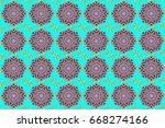 elegant seamless pattern with...   Shutterstock . vector #668274166