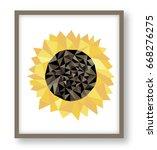 sunflower low polygonal vector... | Shutterstock .eps vector #668276275