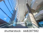 abstract fragment of the urban... | Shutterstock . vector #668287582