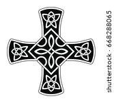 celtic national ornament in the ...   Shutterstock .eps vector #668288065