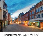 winchester city centre high... | Shutterstock . vector #668291872