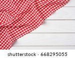 Red Checkered Tablecloth Over...