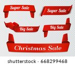 set of sale banners. christmas... | Shutterstock .eps vector #668299468