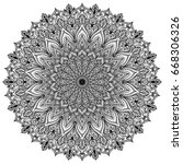 mandala. decorative round... | Shutterstock .eps vector #668306326