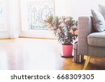 bright sunny interior of modern ... | Shutterstock . vector #668309305