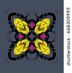 ornament on a gray background.... | Shutterstock . vector #668309995