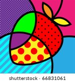 strawberry pop art fruits...