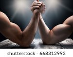 arms wrestling  competition ... | Shutterstock . vector #668312992