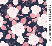 vector vintage pink and white... | Shutterstock .eps vector #668313532