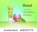 the design of cosmetics  skin...   Shutterstock .eps vector #668325775