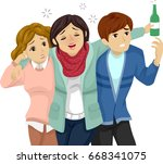 illustration featuring a... | Shutterstock .eps vector #668341075
