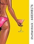 summer beach bikini or pool... | Shutterstock .eps vector #668348176