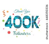 thank you design template for... | Shutterstock .eps vector #668350336