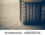 new tire full of tire tread  ... | Shutterstock . vector #668356516