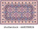colorful oriental mosaic kilim...   Shutterstock .eps vector #668358826
