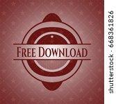 free download vintage red emblem