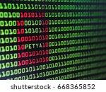 binary screen background  petya ... | Shutterstock . vector #668365852