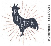 Hand Drawn Rooster Illustratio...