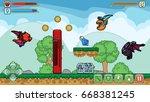 vector cartoon game. a complete ...