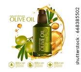 olive oil organics natural skin ... | Shutterstock .eps vector #668385502