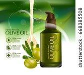 olive oil organics natural skin ... | Shutterstock .eps vector #668385508