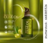 olive oil organics natural skin ... | Shutterstock .eps vector #668385526