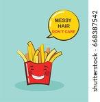 funny potato chips character...   Shutterstock .eps vector #668387542